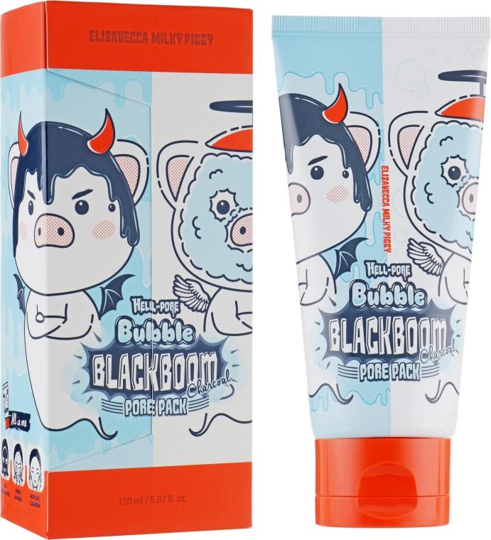 Кислородная маска для очищения пор - Elizavecca Hell-Pore Bubble Blackboom Pore Pack