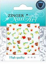 Духи, Парфюмерия, косметика Наклейки для дизайна ногтей, fda-197 - Zinger Nail Art Sticker