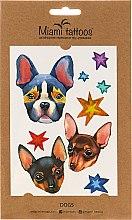 Духи, Парфюмерия, косметика Акварельные переводные тату - Miami Tattoos Dogs