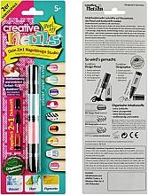 Духи, Парфюмерия, косметика Лак-карандаш для ногтей детский, голубой + розовый - Creative Nails