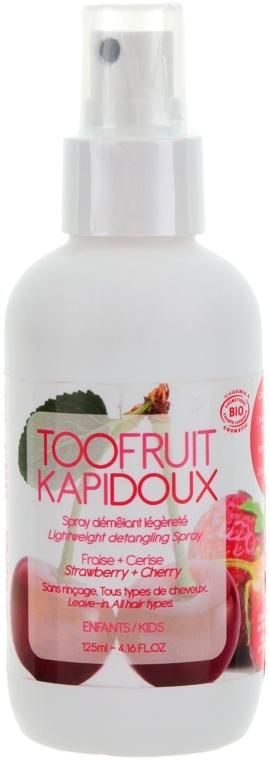 Легкий кондиционер для волос Вишня & Клубника - TOOFRUIT Kapidoux Sensetive Spray
