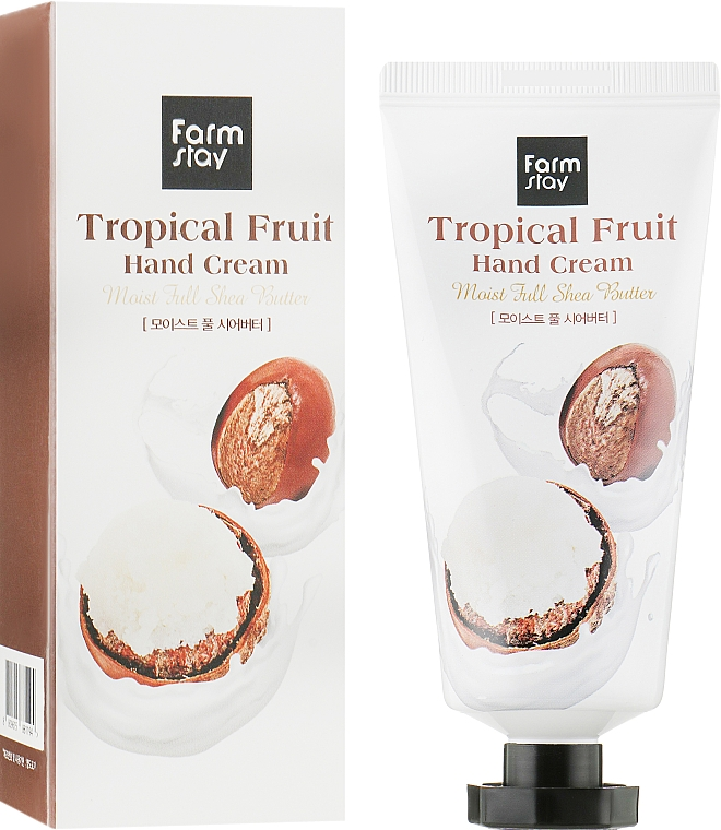Крем для рук с маслом ши - FarmStay Tropical Fruit Hand Cream Moist Full Shea Butter