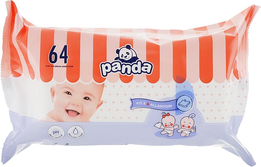 Влажные салфетки для детей Panda, 64шт - Bella Baby