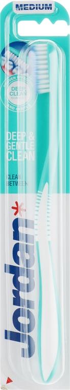 Зубная щетка для чувствительных зубов и десен, средней жесткости, бирюзовая - Jordan Clean Between