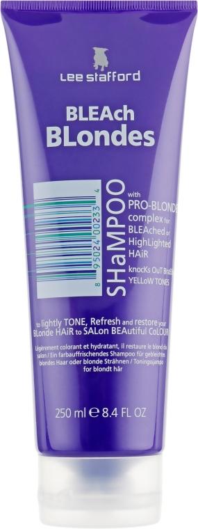 Увлажняющий шампунь для осветленных волос - Lee Stafford Bleach Blonde Shampoo — фото N3
