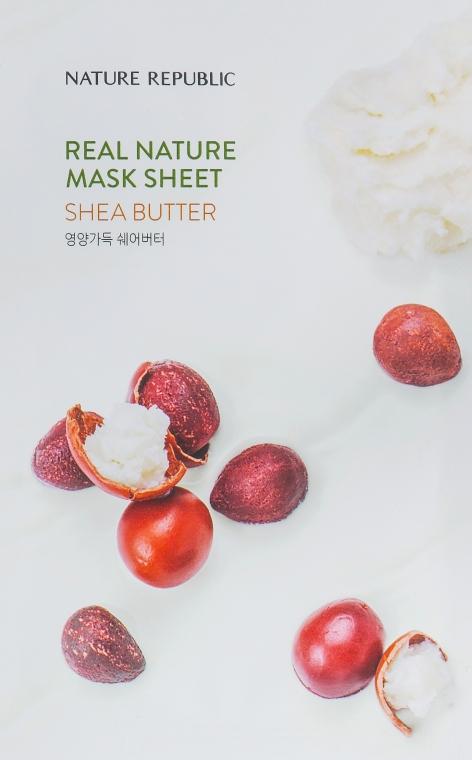 Тканевая маска с экстрактом масла ши - Nature Republic Real Nature Mask Sheet Shea Butter — фото N1