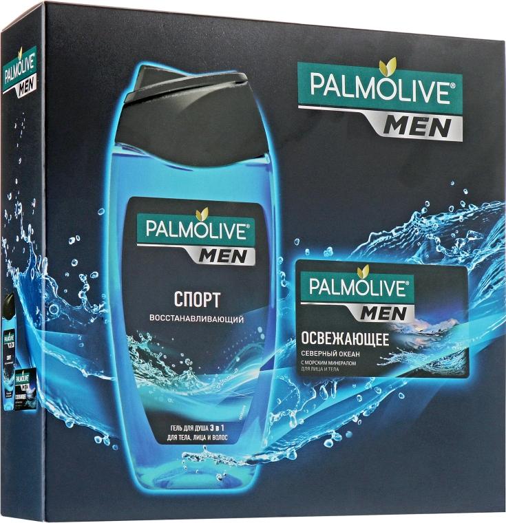 """Набор """"Спорт и Северный океан"""" - Palmolive Men (sh/gel/250ml + soap/90ml)"""