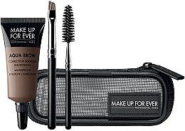 Духи, Парфюмерия, косметика Набор - Make Up For Ever Aqua Brow Eyebrow Corrector Kit (corrector/7ml+brush/2pcs+bag)