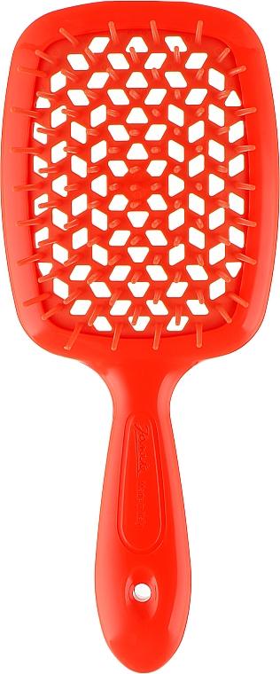 Расческа для волос, неоново-оранжевая - Janeke Superbrush