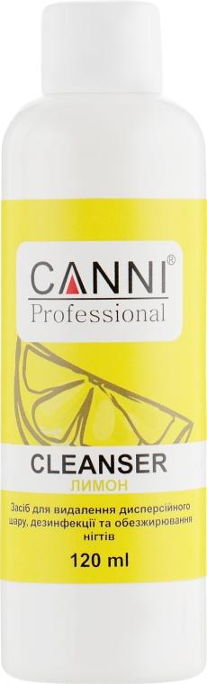 Средство для удаления липкого слоя, дезинфекции и обезжиривания ногтей - Canni Cleanser Lemon