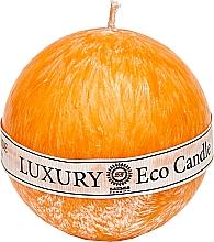 Духи, Парфюмерия, косметика Свеча из пальмового воска, 8 см, оранжевая - Saules Fabrika Luxury Eco Candle