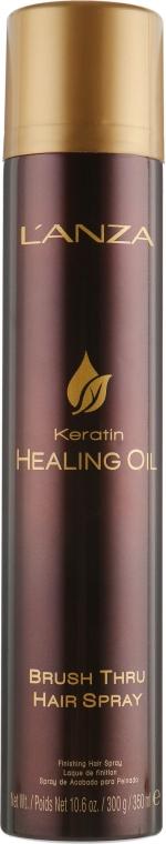 Спрей для укладки волос - L'anza Keratin Healing Oil Brush Thru Hair Spray