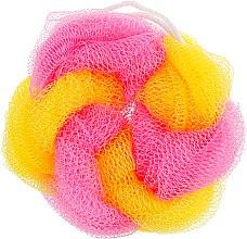 """Духи, Парфюмерия, косметика Мочалка для душа и ванны """"Цветное колесо"""", желто-розовая - Avrora Style"""