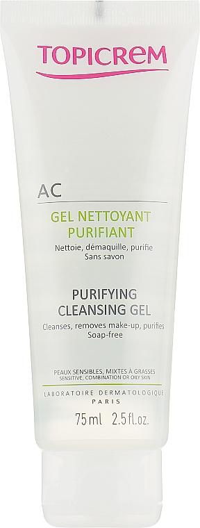 Очищающий себорегулирующий гель для лица - Topicrem AC Purifying Cleansing Gel