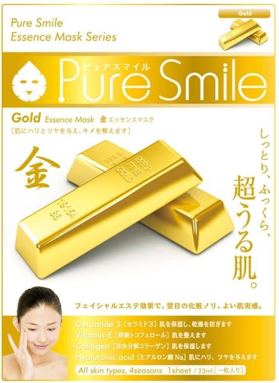 Тканевая маска для лица с золотом - Pure Smile Essence Mask Series Gold