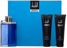 Духи, Парфюмерия, косметика Alfred Dunhill Desire Blue - Набор (edt/100ml + a/sh/90ml + sh/g/90ml)