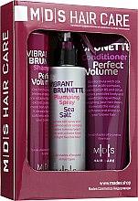 """Парфумерія, косметика Набір """"Ідеальний об'єм. Жагуча брюнетка"""" - Mades Cosmetics (sham/250ml + cond/250ml + spray/200ml)"""