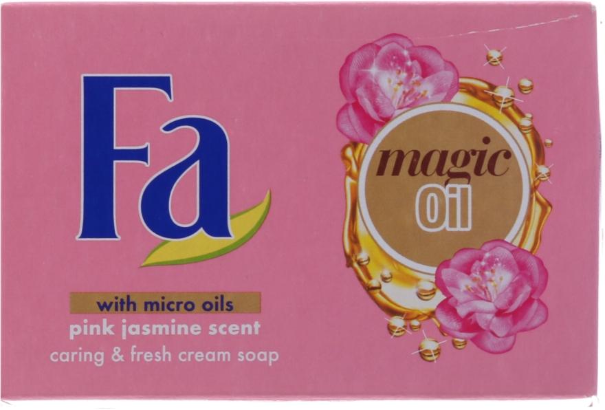 Крем-мило  - Fa Magic Oil Pink Jasmine Cream Soap — фото N2