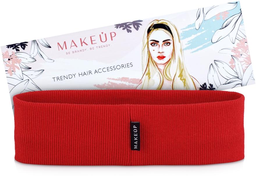 "Повязка на голову, красная ""Be Beauty"" - Makeup"
