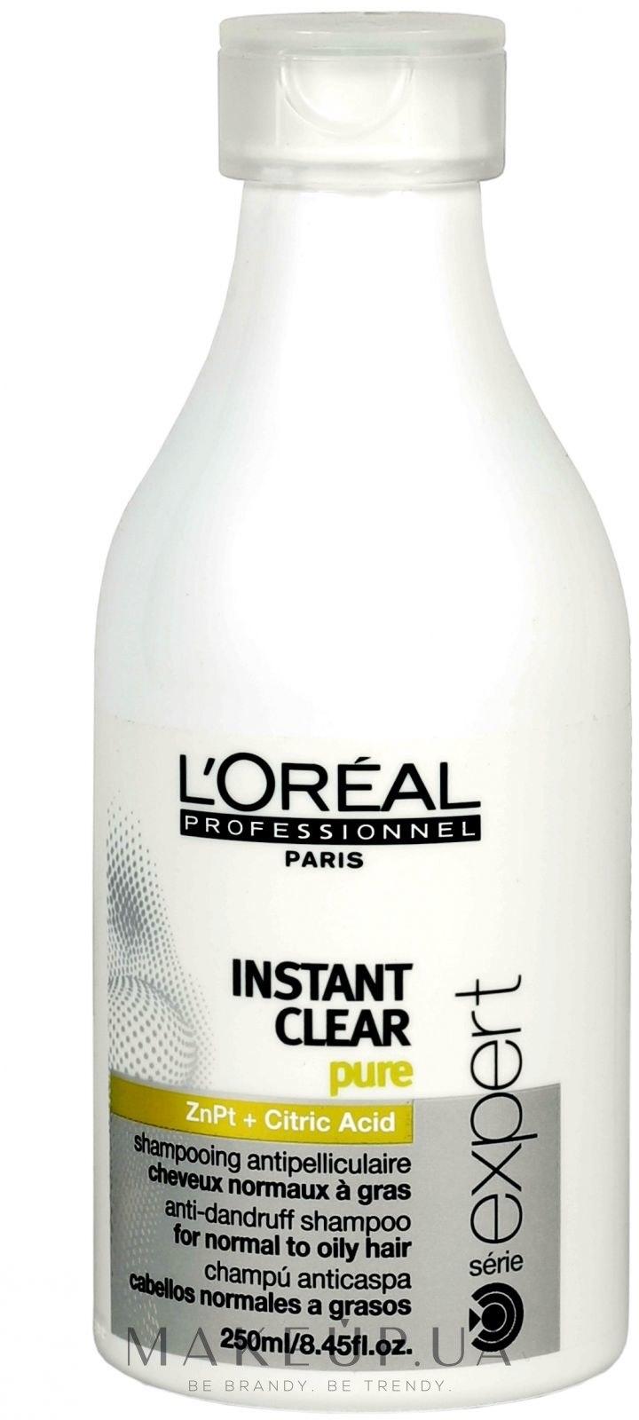 Шампунь против перхоти для нормальных и жирных волос - L'Oreal Professionnel Instant Clear Pure Anti-Dandruff Shampoo — фото 300ml