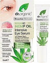 """Духи, Парфюмерия, косметика Интенсивная сыворотка для кожи вокруг глаз """"Конопляное масло"""" - Dr. Organic Bioactive Skincare Hemp Oil Intensive Eye Serum"""