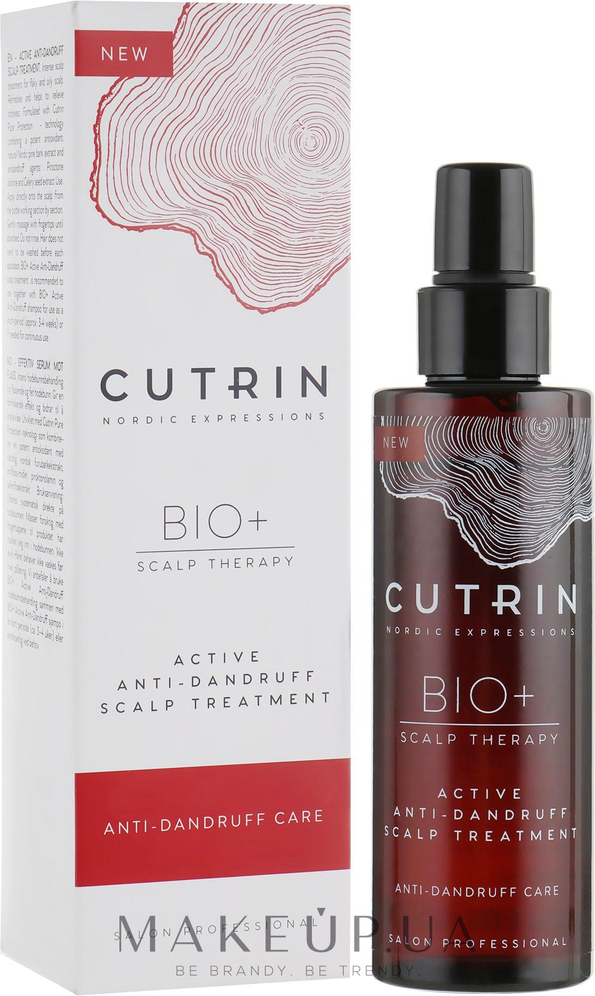 Крем от перхоти для кожи головы - Cutrin Bio+ Active Anti-dandruff Scalp Treatment  — фото 100ml