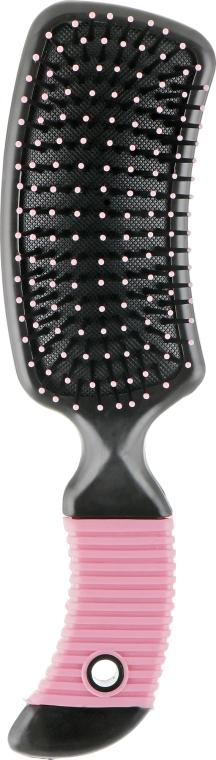 Щетка для волос массажная С0254, розовая - Rapira