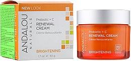 Духи, Парфюмерия, косметика Восстанавливающий крем с пробиотиками и Витамином С - Andalou Naturals Brightening Probiotic + C Renewal Cream