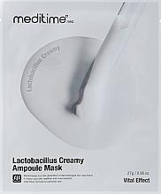 Духи, Парфюмерия, косметика Маска для лица с пробиотиками - Meditime Lactobacillus Creamy Ampoule Mask
