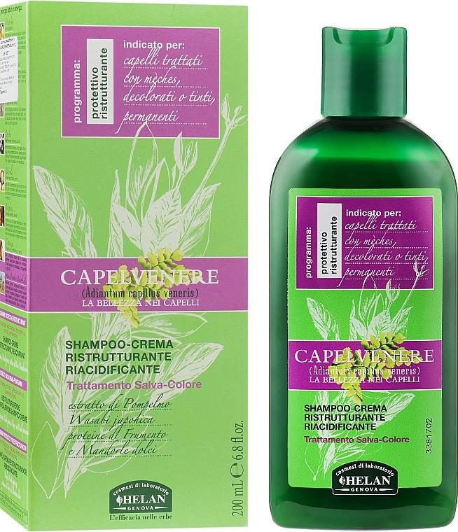 Крем-шампунь для окрашенных волос - Helan Capelvenere Restructuring Re-acidifying Cream-Shampoo