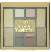 Духи, Парфюмерия, косметика Набор теней и хайлайтер - DoDo Girl Eyeshadow And Highlighter Set