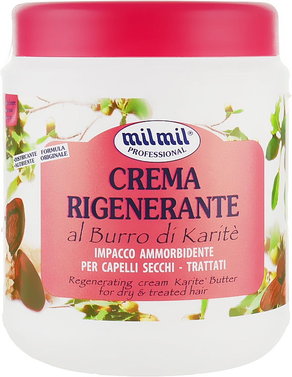 "Маска для волос ""Масло каритэ"" - Mil Mil Crema Rigenerante Al Burro Di Karite"