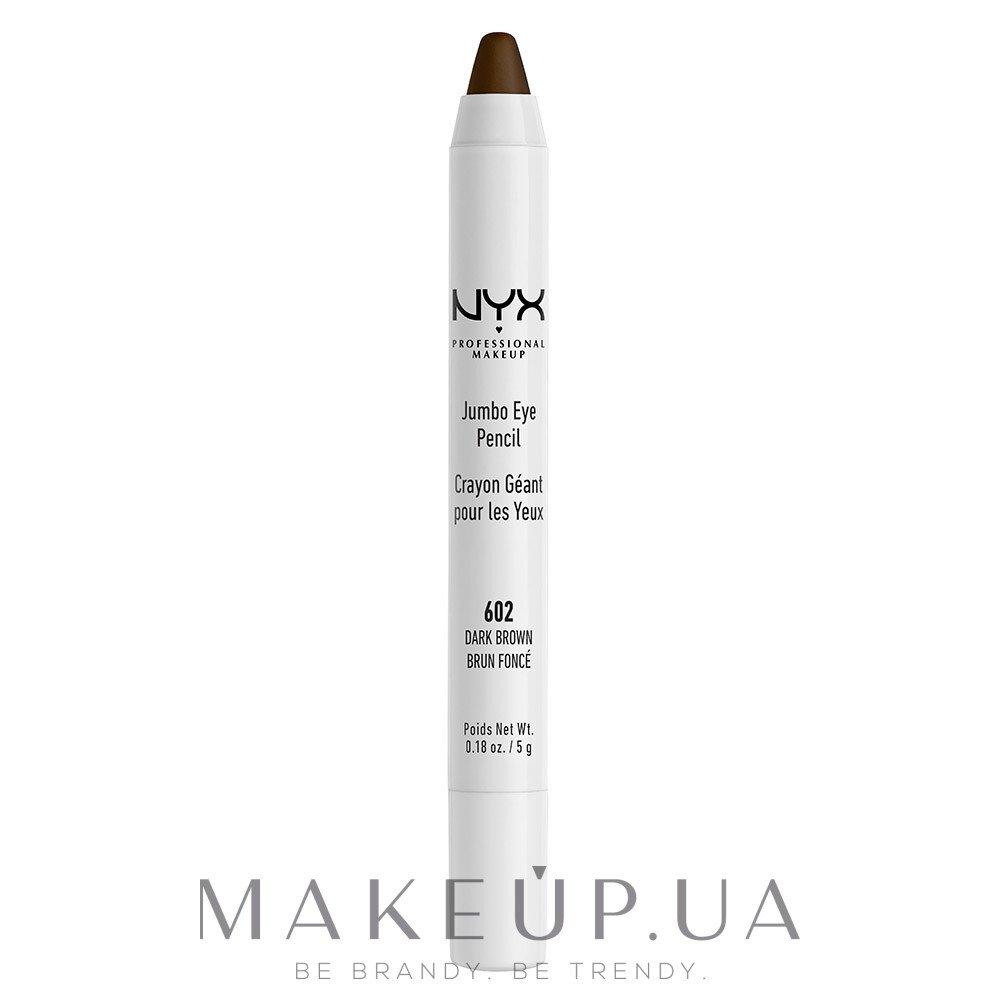 Карандаш-тени для глаз - NYX Professional Makeup Jumbo Eye Pencil — фото 602 - Dark Brown