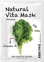 """Духи, Парфюмерия, косметика Укрепляющая тканевая маска для лица """"Капуста"""" с витамином А - Too Cool For School Natural Vita Mask Firming"""