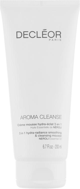 Крем-мусс для увлажнения и сияния кожи 3 в 1 - Decleor Aroma Cleanse 3 in 1 Hydra-Radiance Smoothing & Cleansing Mousse