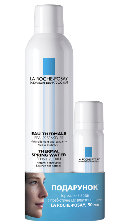 Термальная вода - La Roche-Posay Thermal Spring Water (water/300ml+water/50ml)