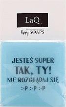"""Духи, Парфюмерия, косметика Мыло натуральное """"У парней тоже есть чувства..."""" - LaQ Happy Soaps Short Message Soap"""