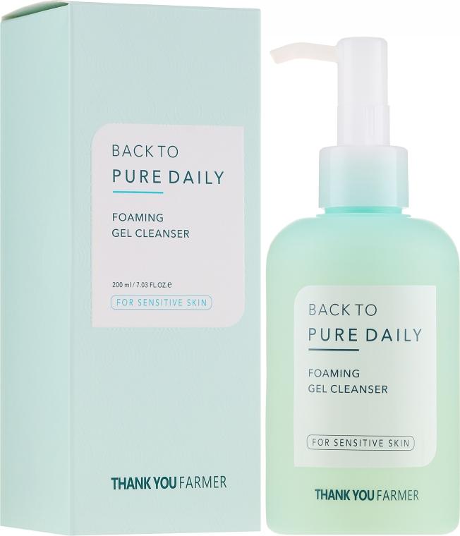 Очищающий гель-пенка для чувствительной кожи - Thank You Farmer Back To Pure Foaming Gel Cleanser
