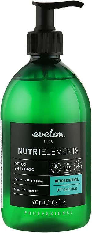 Шампунь для волос - Parisienne Italia Evelon Pro Nutri Elements Detox Shampoo Organic Ginger