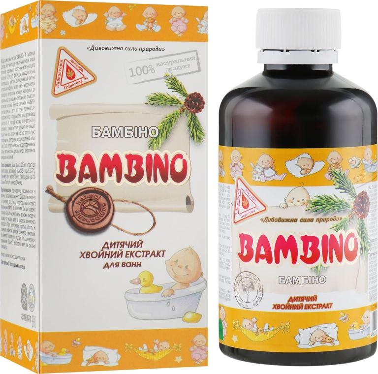 """Детский хвойный экстракт для приготовления ванн """"Бамбино"""" - Лаборатория Доктора Пирогова"""