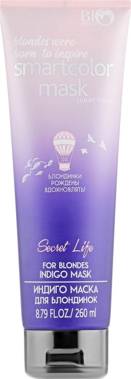 "Маска для блондинок ""Индиго"" - Bio World Secret Life Luxury Therapy Indigo Mask"