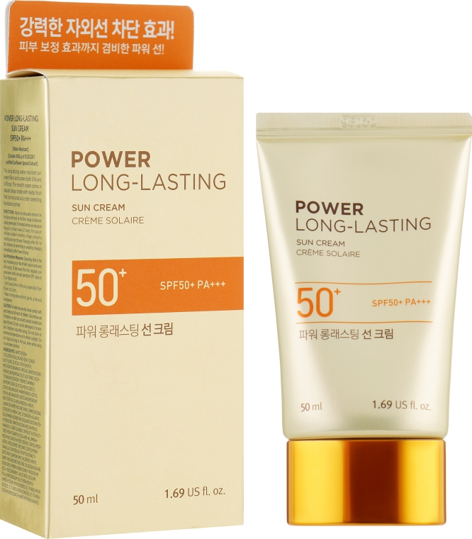 Солнцезащитный крем - The Face Shop Power Long-Lasting Sun Cream SPF50+ PA+++
