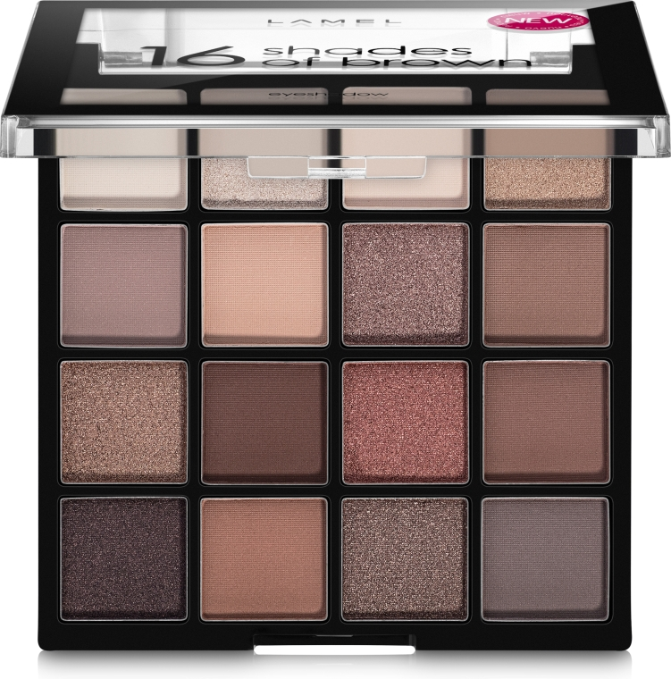 Палетка теней для век - Lamel Professional Eyeshadow 16 Shades Of Brown