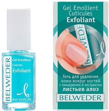 Гель для удаления кожи вокруг ногтей с глицерином и экстрактом листьев алоэ - Belweder Cuticle Gel