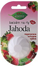 "Парфумерія, косметика Бальзам для губ ""Полуниця"" - Bione Cosmetics Vitamin E Lip Balm"