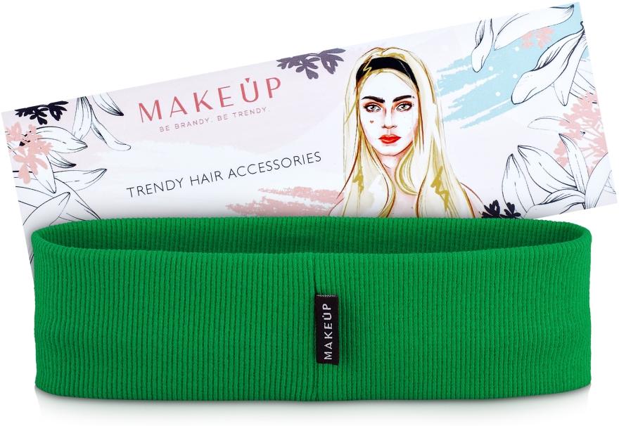 "Повязка на голову, зеленая ""Be Beauty"" - Makeup"