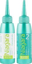 Набор для химической завивки для нормальных волос - Estel Professional Niagara Permanent Wave (fix/100ml + lot/100ml + gloves) — фото N2