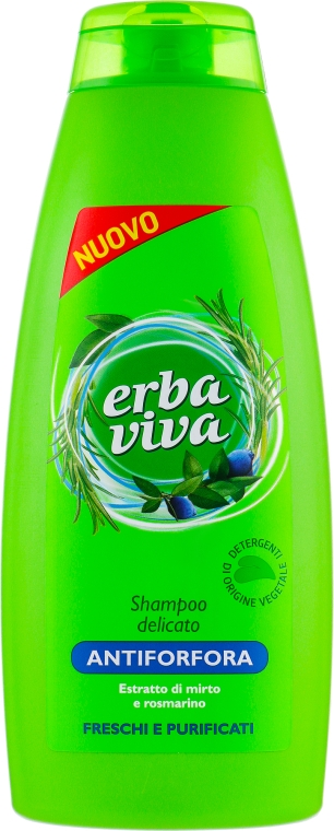 Шампунь против перхоти с экстрактом мирты и розмарина - Erba Viva Anti-Dandruff Shampoo