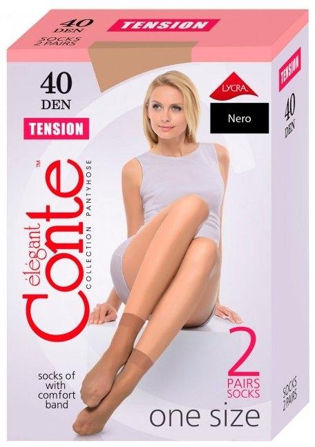 """Носки для женщин """"Tension"""" 40 Den, 2 пары, nero - Conte"""