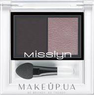 Тени для век - Misslyn High Shine Duo Eyeshadow — фото 67 - New Romance